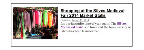 Silves Medieval Fair 2014 shopping Algarve Blog
