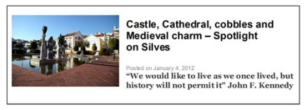 Spotlight on Silves post