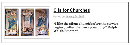 C is for Churches
