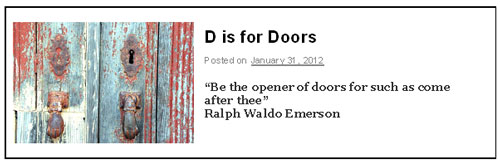 D is for Doors