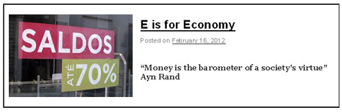 E is for Economy