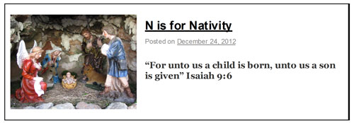 N is for Nativity banner