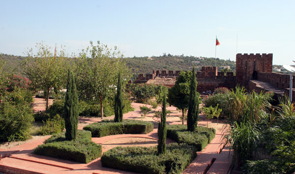 View of the gardens Silves castle