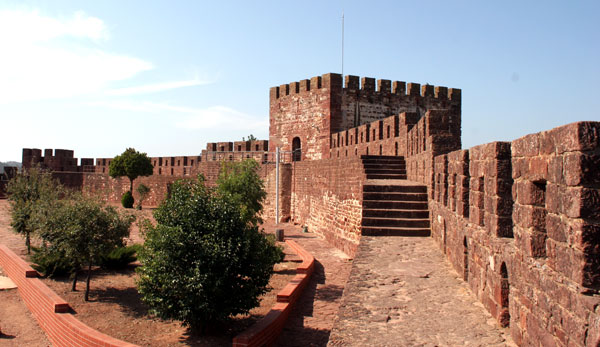 view of ramparts Silves castle