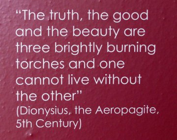 Dionysius quote at Silves Cathedral