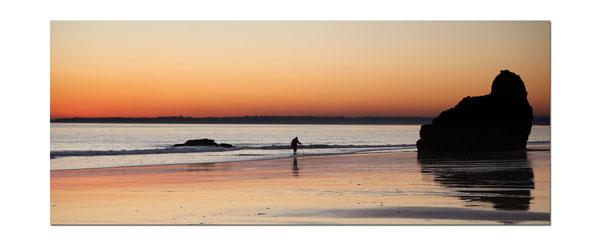 sunset Prainha beach Algarve