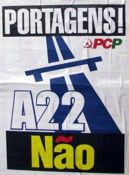 A22 tolls sign