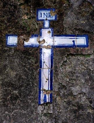 Monchique Convent tiled cross