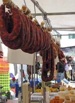 Local Algarve sausages