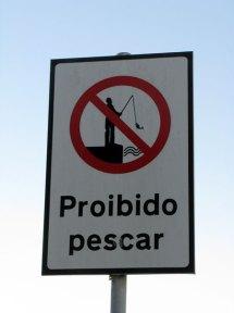 Proibido Pescar sign