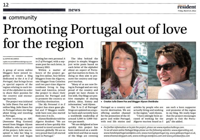 Algarve Resident article 23 03 2012
