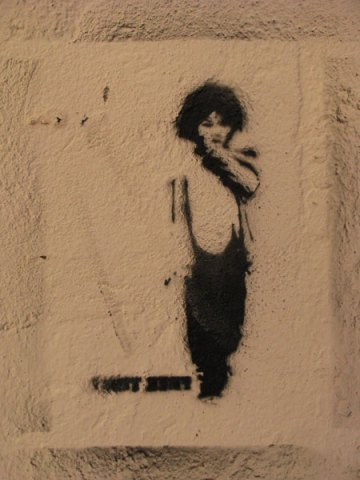 graffiti figure stencil