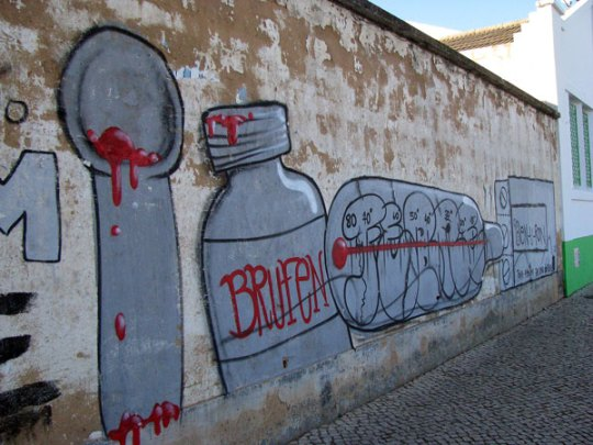 graffiti pills and bottles