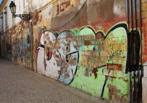 graffiti wall Faro