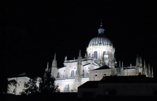 Salamanca Cathedral at night