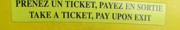 take a ticket