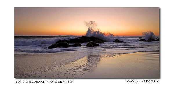 Gale beach sunset