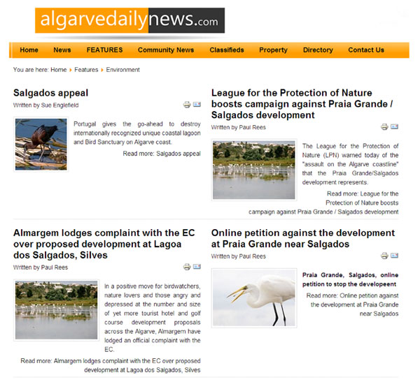 Algarve Daily News Salgados articles