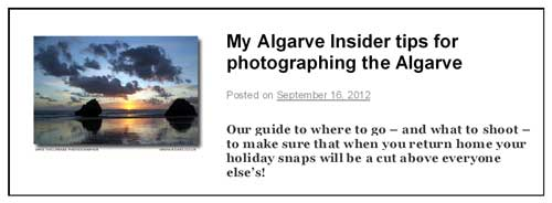 Algarve Insider Tips post