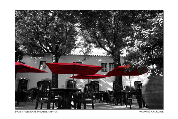 Dappled shade Algarve restaurant