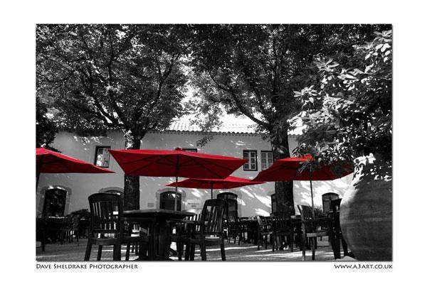 Dappled shade Algarve restaurant