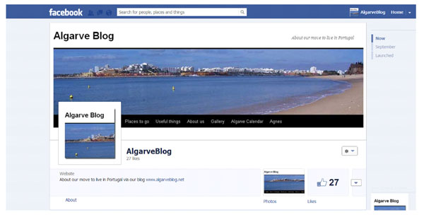 Algarve Blog Facebook screenshot