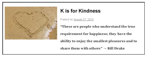 K is for Kindness post