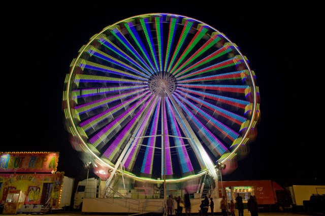 Funfair big wheel Sao Martinho Fair Portimao