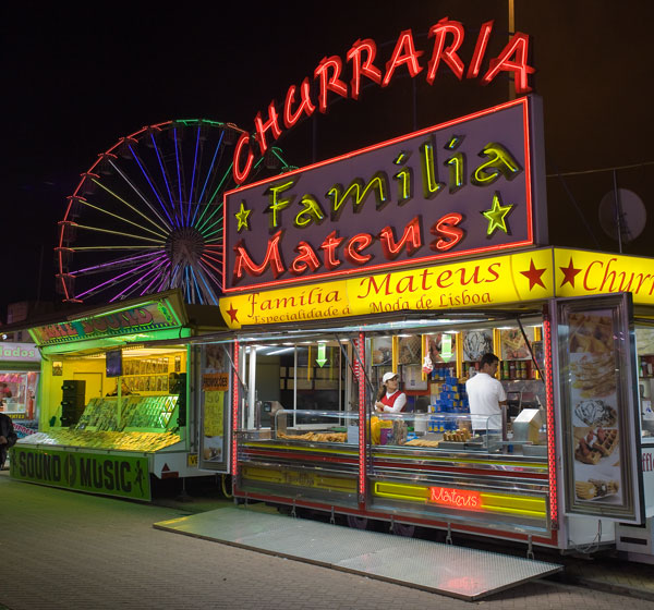 Funfair food stall Sao Martinho Fair Portimao