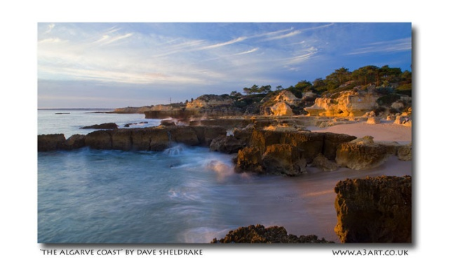 A3 Art Algarve Coast Dave Sheldrake