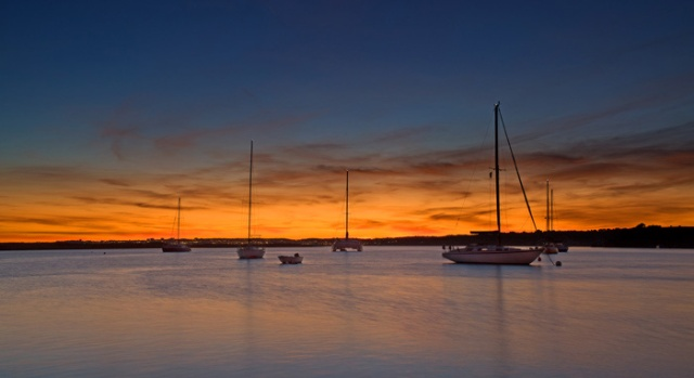 Sunset Alvor harbour #003