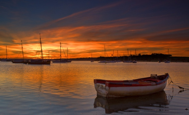 Sunset Alvor harbour #004