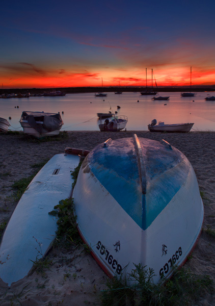 Sunset Alvor harbour #005