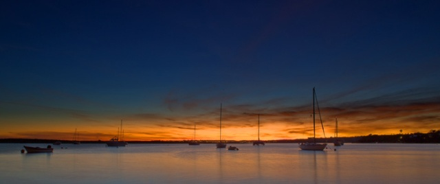 Sunset Alvor harbour #006