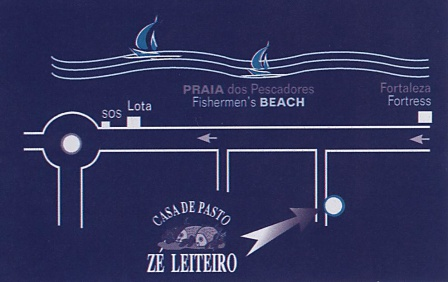 Ze Leiteiro fish restaurant Algarve Blog map