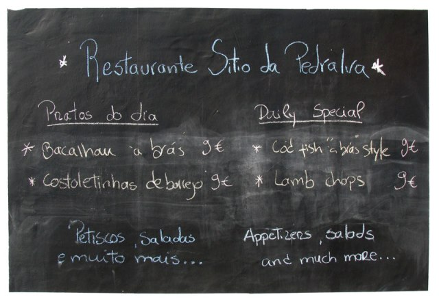 Eating out in Pedralva