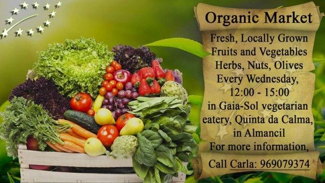 Organic produce market Almancil