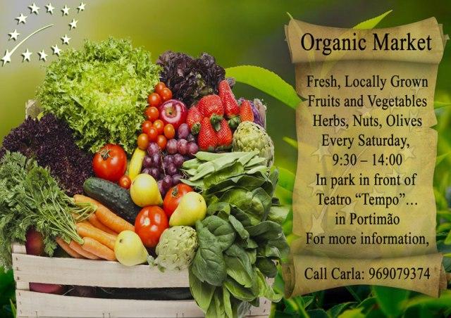Organic produce market Portimão
