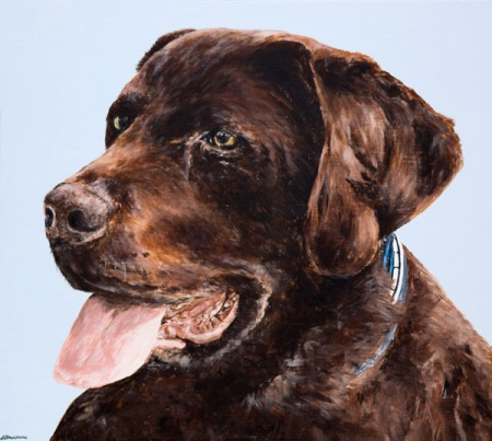 Pet Portrait Painting Alyson Sheldrake