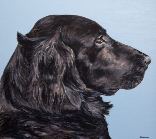 Pet Portrait Painting Alyson Sheldrake