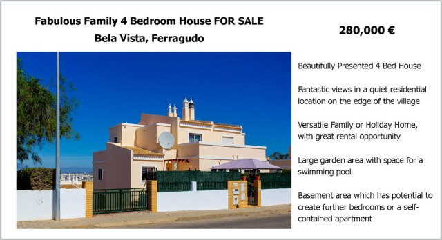 Bela Vista Ferragudo house for sale brochure algarve blog